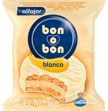 BON O BON alfajor blanco x40g