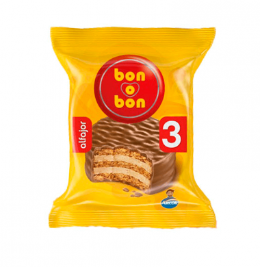 BON O BON alfajor chocolate triple x60g