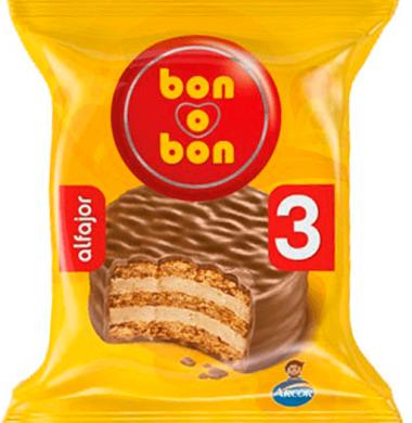 BON O BON alfajor chocolate triple x60g