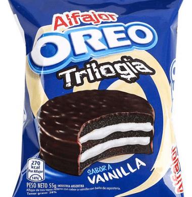 OREO alfajor triple chocolate vainlla  x55g