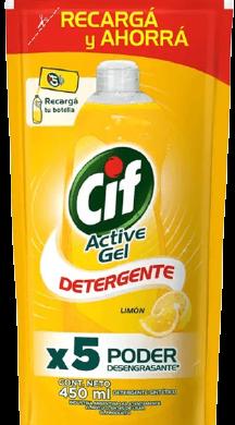 CIF detergente enjuague facil limon x450cc doypack