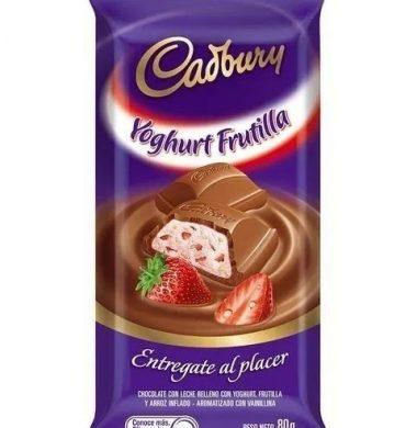 CADBURY chocolate yogur frutilla x80g