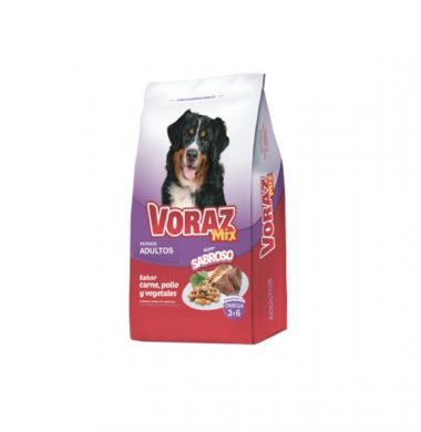 VORAZ alimento perro aduto mix carne/pollo/vegetales x10kg