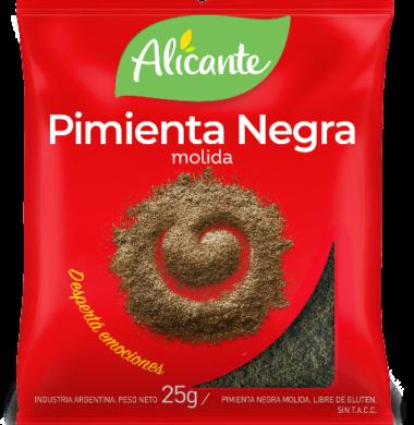 ALICANTE pimienta negra molida x 25g