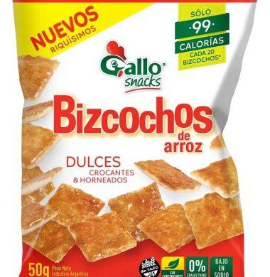 GALLO bizcochos arroz dulce x50g