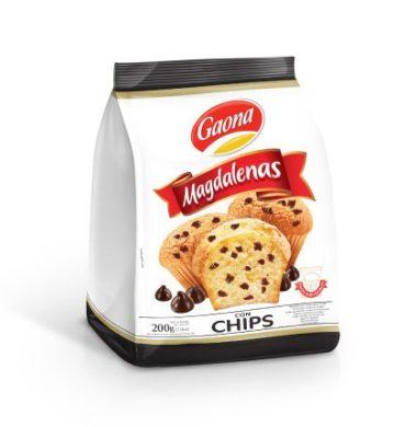 GAONA madalena vainilla con chips x200g.