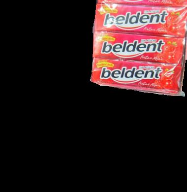 BELDENT chicle frutilla x20u