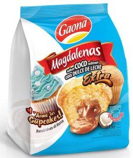 GAONA madalena coco rellena con dulce de leche x215g