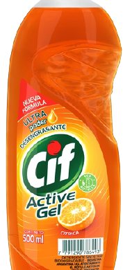 CIF det. act/gel citrica x500cc