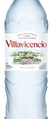 VILLAVICENCIO agua mineral sin gas x500cc