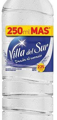 VILLA DEL SUR agua mineral sin gas x2,25 lt