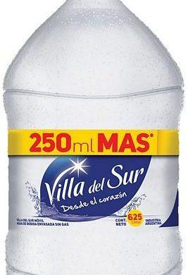 VILLA DEL SUR agua mineral sin gas bidon x6Lt