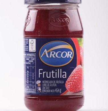 ARCOR mermelada  frutilla x454g frasco.