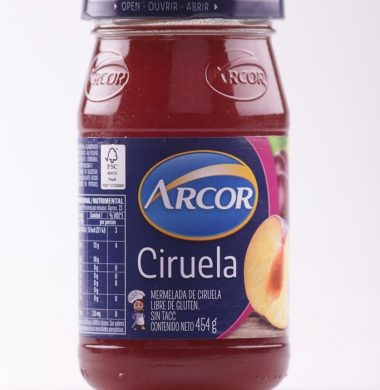 ARCOR mermelada ciruela x454g frasco