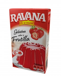 RAVANA gelatina  frutilla x50g