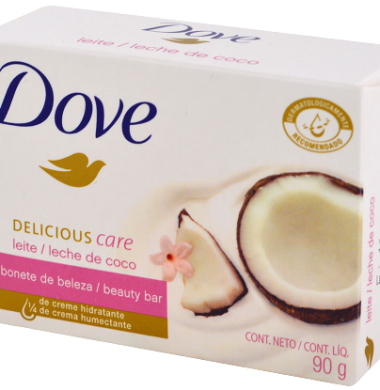 DOVE jabon tocador leche de coco x90g