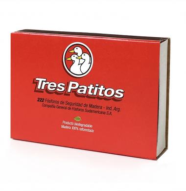 TRES PATITOS fosforos 20x222u.