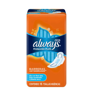 ALWAYS toallitas proteccion plus seca con alas x16u