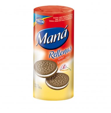 ARCOR galletas mana chocolate vainilla x165g