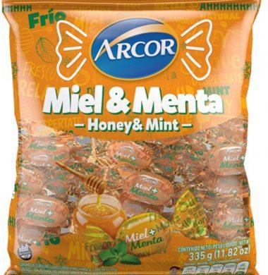 ARCOR caramelos miel y menta x335g