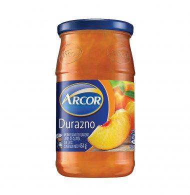 ARCOR mermelada  durazno x454g frasco.