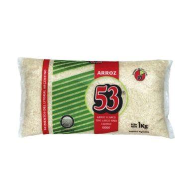 53 arroz largo fino 0000 x 1kg.