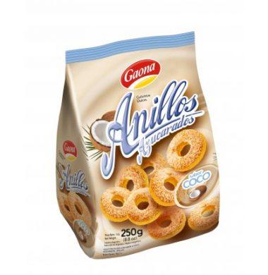 GAONA galletas anillos coco x250g