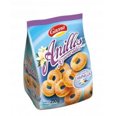 GAONA galletas anillos azucarados x250g