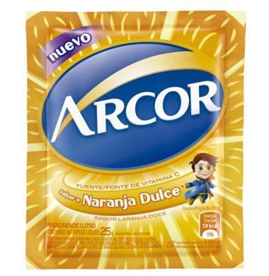 ARCOR jugo naranja dulce x18sob.