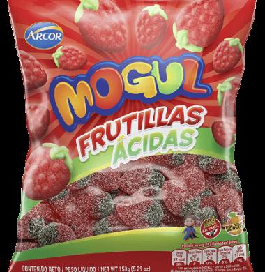 ARCOR mogul gomitas frutillas acidas x150g