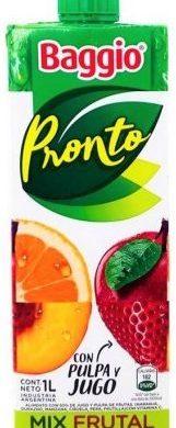 BAGGIO jugo mix frutal x1lt
