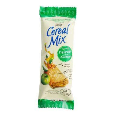 ARCOR cereal mix barra rellena manzana x32g