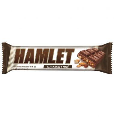 HAMLET chocolate mani almendras x45g