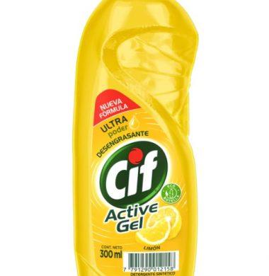 CIF detergente active gel limon x300cc.