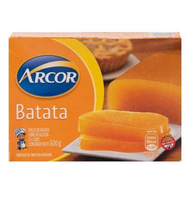 ARCOR dulce batata sin tacc x500g