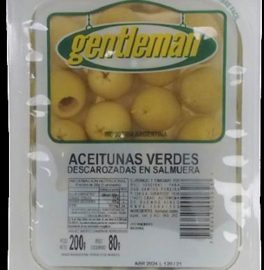 GENTLEMAN aceitunas verdes descarozadas x200g