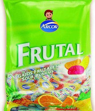 ARCOR caramelos gajitos frutales x485g