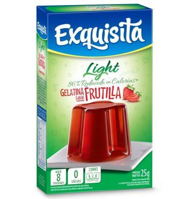 EXQUISITA gelatina  frutilla light x25g