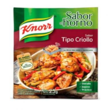 KNORR sazon pollo criollo x21g.