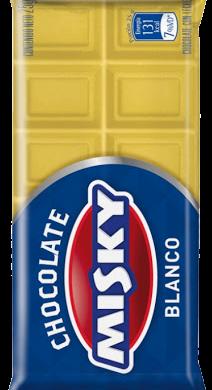MISKY chocolate blanco x25g
