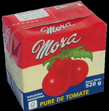 MORA pure tomate x520g