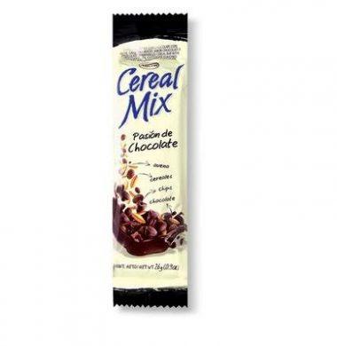ARCOR barra cereal mix pasion chocolate x26g