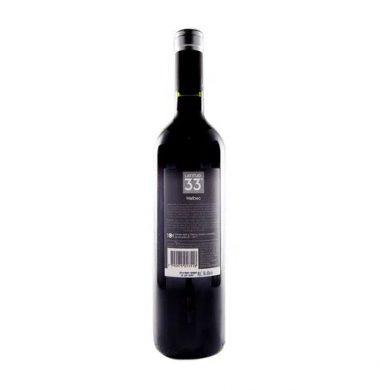 LATITUD 33 vino malbec x750cc