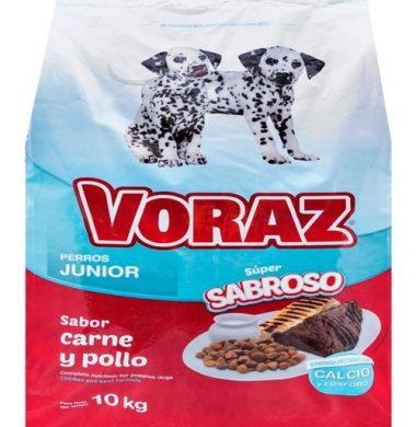VORAZ alimento perro junior carne pollo x10kg