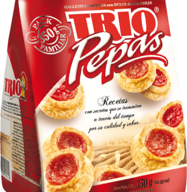 TRIO galletita pepas x350g.