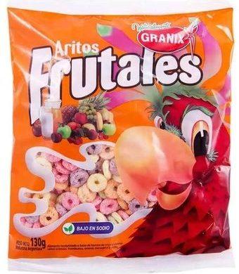 GRANIX copos cereal aritos frutales x130g