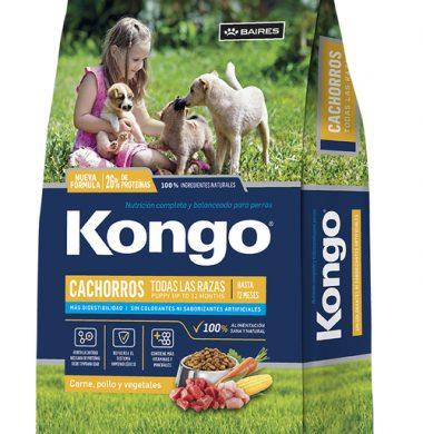 KONGO alimento perro cachorro x8kg.