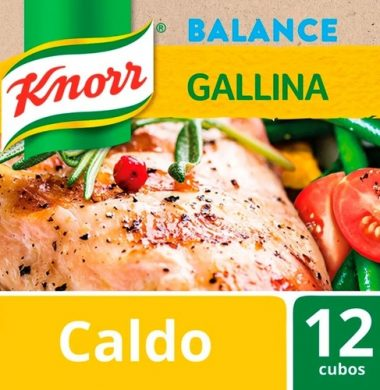 KNORR caldo bajo sodio gallina x12Un.