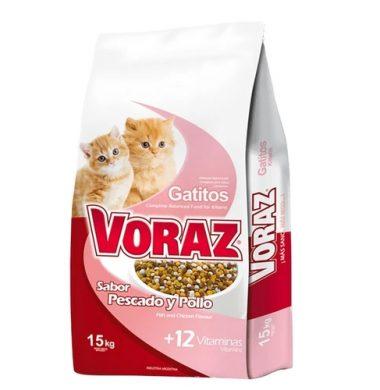 VORAZ alimento gatito x15kg.