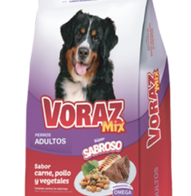 VORAZ alimento perro mix carne x15kg.